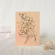 Wanderlust Paper Co. 'Merci' Foxglove Card